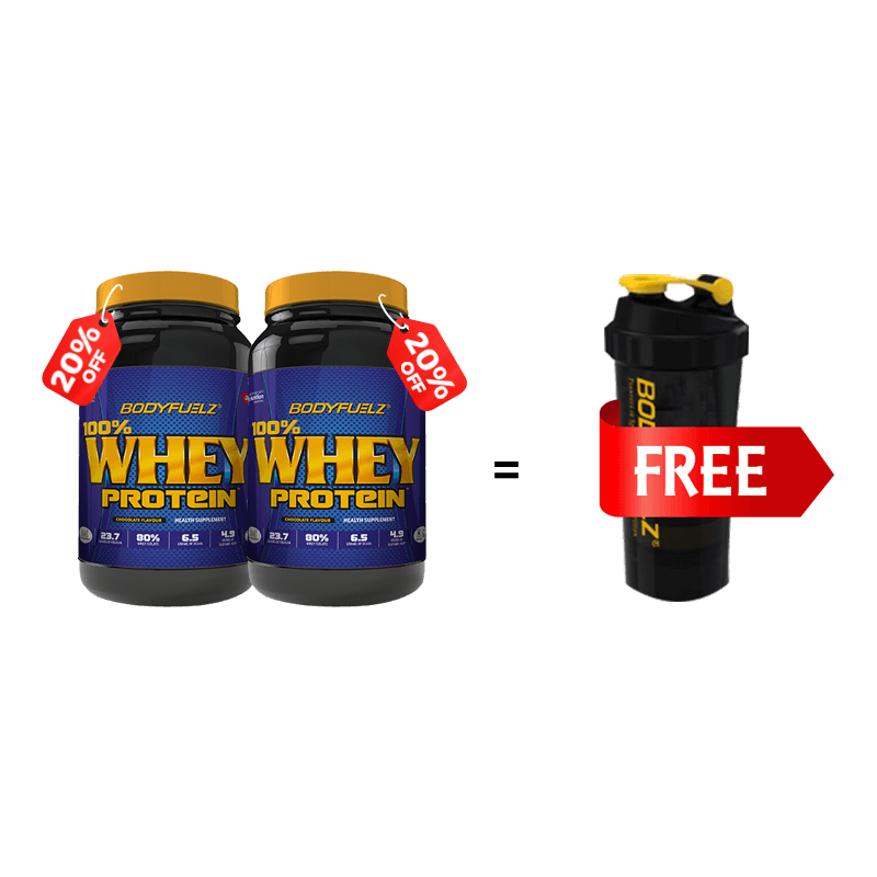 Buy 100% Whey Protein (2Nos)- 1 shaker free